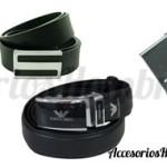 Cinturón de piel color negro