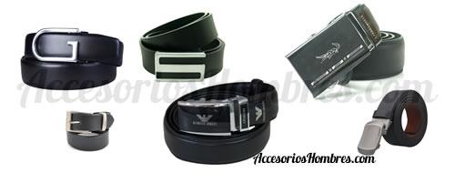 cinturones piel accesorios moda hombres negros