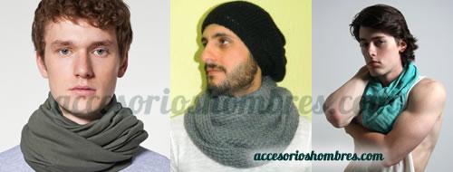 Bufandas circulares, accesorios para hombres a la moda y con estilo