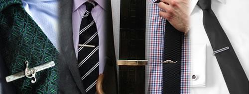 clips corbatas hombres